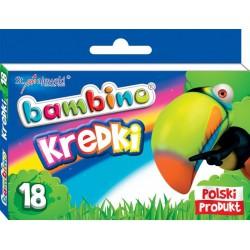Kredki BAMBINO 18 kolorów