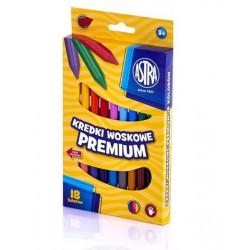 ASTRA Kredki woskowe PREMIUM - 18 kolorów