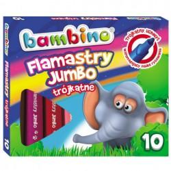 BAMBINO Flamastry JUMBO trójkątne-10 kolorow