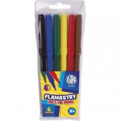 ASTRA flamastry FELT-TIP PENS 6 kolorów
