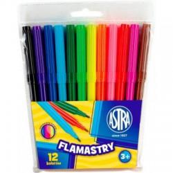 ASTRA flamastry FELT-TIP PENS 12 kolorów