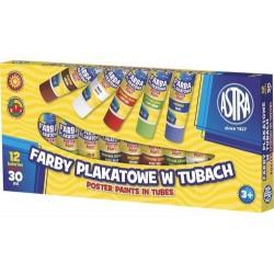 ASTRA Farby plakatowe w tubach 12 kolorów