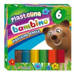 BAMBINO PLASTELINA 6 KOLORÓW