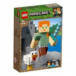 LEGO MINECRAFT 21149 ALEX Z KURCZAKIEM